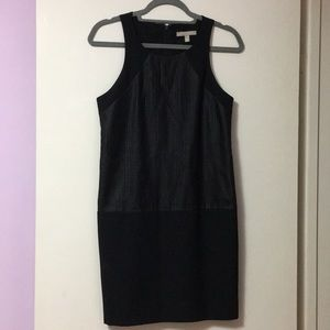 Banana Republic Faux Leather Overlay Dress